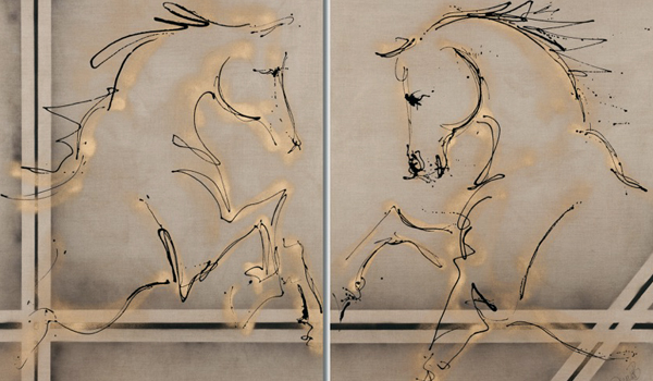 abstract horse art